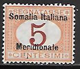 Italian Somalia J1 mh 2013 SCV $20.00 postage due