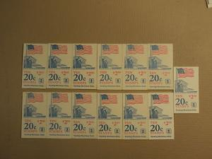 USPS Scott 1896b 20c 13 Books Supreme Court Flag 1981 130...