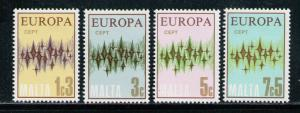 MALTA 1972 MNH SC.450/453 Europe CEPT