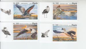 2018 Angola Water Birds (4) (Scott NA) MNH