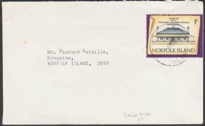 NORFOLK IS 1975 1c local rate cover - 1c Building...........................M629