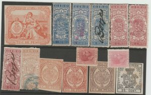 Spain Antilles Cinderella Revenue fiscal mix collection stamp ml30 as seen