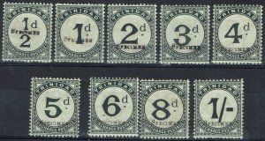 TRINIDAD 1885 POSTAGE DUE SPECIMEN SET WMK CROWN CA