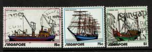 Singapore SC# 164-166, Used, 165 Mint - S968