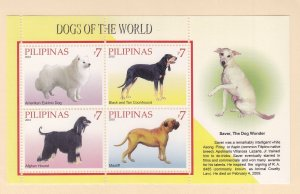 Philippines: Sc #3327, MNH S/S, Dogs (S18906)