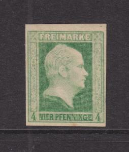 Prussia Sc 1 MLH. 1856 4pf King Frederick William IV, fresh & VF