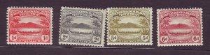 J23730 JLstamps 1908-11 solomos islands mh #9-10,13-4 war conoe