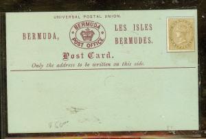 BERMUDA (P2104B)  PSC WITH QV 1/2D    MINT