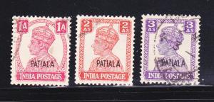 India Patiala 105, 108-109 U King George VI