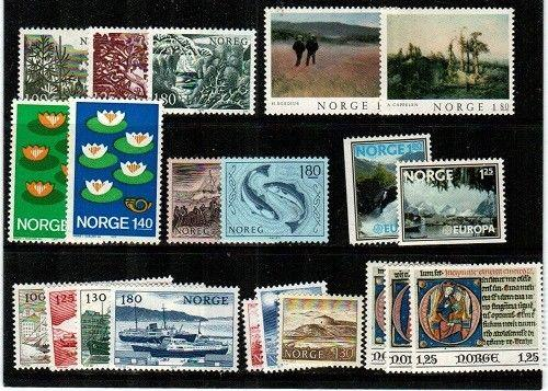 Norway Scott 688-708 Mint NH (1977 Comm. Year Set) - Catalog Value $19.50