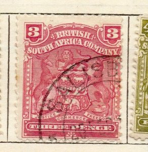 Rhodesia 1898 Early Issue Fine Used 3d. NW-11482
