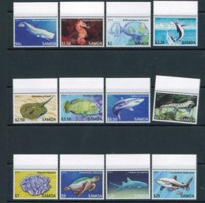 2014 Samoa Endangered Marine Animals Postage Stamps #1167-1178 Mint Never Hinged