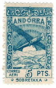(I.B) Andorra Postal : Air Mail 5P