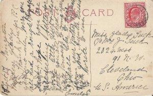 Colaton Raleigh, Great Britain Postal Card 1917, Church