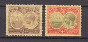J26609 JLstamps 1920-1  bermuda mh #58-9 small light pencil numbers on reverse