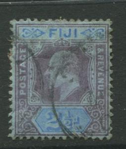 Fiji - Scott 62 - KEVII Definitive Issue -1903 - Used - Single 2.1/2d Stamp