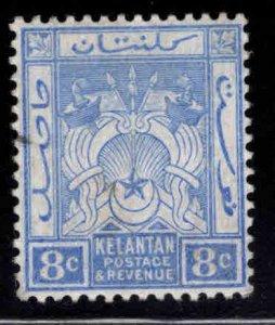 MALAYA Kelantan Scott 5 MH* wmk 3 a little pencil mark at left not a cancel
