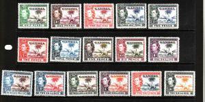 D3-Gambia-Scott#132-43-Unused hinged KGVI definitive set-193