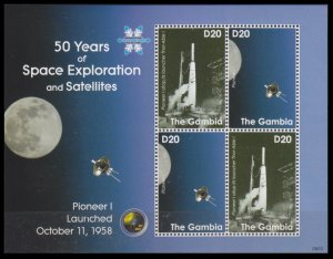 2008 Gambia 5961-62KL 50 years of the launch of the Pioneer I satellite