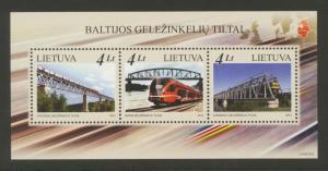 Lithuania Sc# 986 MNH Railway Bridges (S/S)