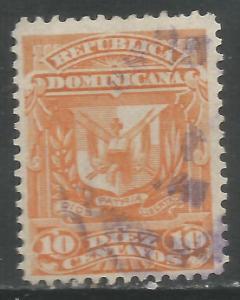 DOMINICAN REPUBLIC 91 VFU ARMS R173-1