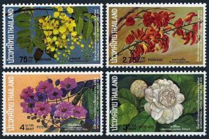 Thailand 1974 Sc# 707/710  International Letter Writing FLOWERS Set (4)  MNH