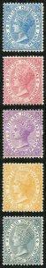 British Honduras SG12/16 Wmk CA Perf 14 Set of 4 Fresh M/M (hinge remainder)