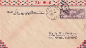 1930, Kansas City to St. Joseph, MO, CAM-3, Signed by Pilot (41294)