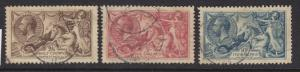 Great Britain Scott # 179 - 181 set VF used nice color cv $ 360 ! see pic !