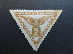 A4P5F18 Fiume Newspaper Stamp 1919 Re-engraved 2c mh*