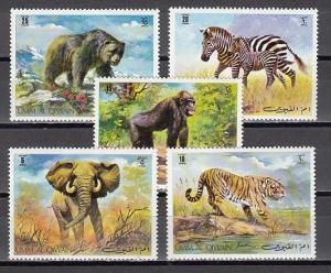 Umm Al Qiwain, Mi cat. 478-482 B. Wild Animals issue.