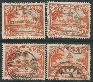 BR GUIANA 1940s pmks of KITTY, GROVE, WAKENHAM, MAHAICA....................43561