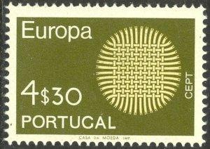 PORTUGAL 1970 4.30e EUROPA Issue Sc 1062 MNH