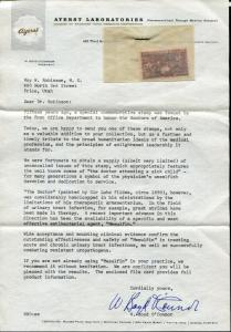 Rare Unique Pharmceutical Letter with Issue #949 Promoting Mesulfin Medication