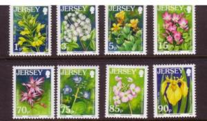 Jersey Sc 1228-35  2006 Flowers stamps NH