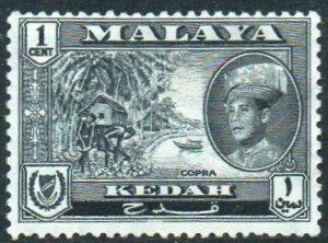 Kedah 1959 1c Copra MH