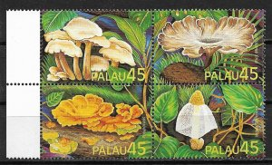 Palau MNH Block 211a Exotic Mushrooms 1989