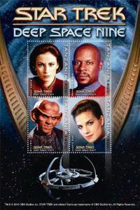 Tanzania 2010 Star Trek Deep Space Nine 4 Stamp  Sheet #2557 20E-078