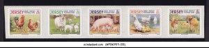 JERSEY - 2008 FARM ANIMALS & BIRDS ROOSTER SHEEP PIG 5V MNH