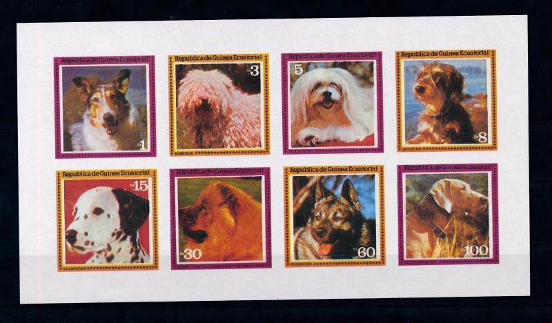 [53205] Equatorial Guinea  Animals Dogs Imperforated MNH Sheet