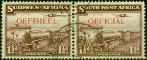 South West Africa 1938 1 1/2d Purple-Brown SG017 Very Fine Used
