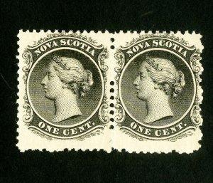 Nova Scotia Stamps # 8 F-VF Pair OG NH