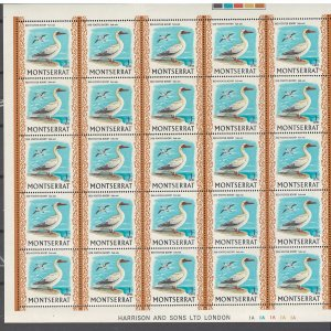 COLLECTION LOT # S31 MONTSERRAT #231 1 SHEET OF 25 1970