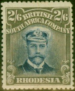 Rhodesia 1913 2s6d Indigo & Grey-Brown SG249 Good Mtd Mint