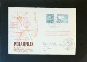 Norway 1977 LONGYEARBYEN Polarfilex Cover - Z3190