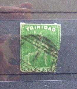 Trinidad QV 1859 6d green imperf SG28 CV £400