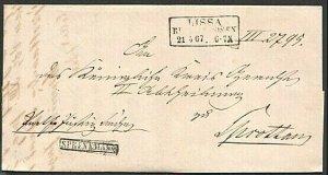 POLAND 1867 folded entire ex LISSA (Now Leszno)............................74367