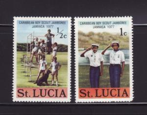 St Lucia 419-420 MHR Boy Scouts (B)