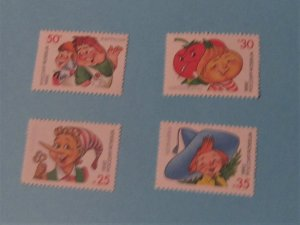 Russia - 6076-79, MNH Set. Child Book Characters. SCV - $1.00