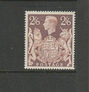 GB GV1 1939/48 High Values 2/6 Brown UM/MNH SG 476